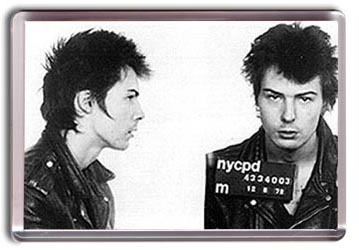 Sid Vicious Mug Shot - Fridge Magnet