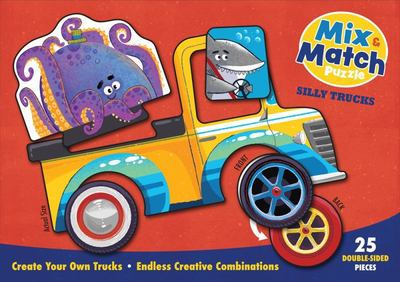 Mix and Match Puzzle: Silly Trucks