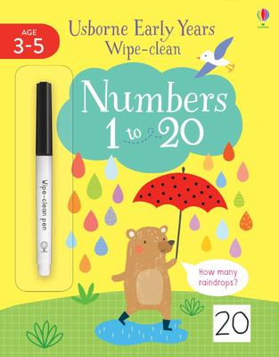 Numbers 1 To 20 (Usborne Early Years Wipe-Clean)