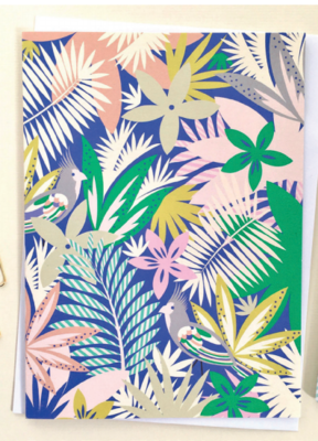 Blue Jungle Greeting Card