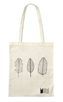 Large tote bags leaves