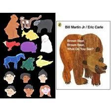 Large brown bear book and felt story set
