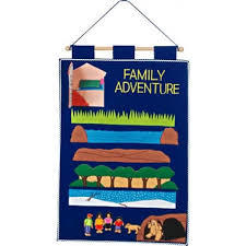FAMILY ADVENTURE ( WERE GOING ON A BEAR HUNT) FELT WALLHANGING