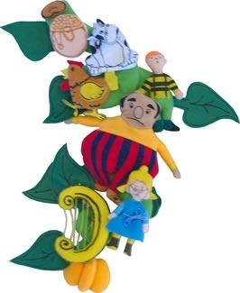 Large jack and the beanstalk felt play