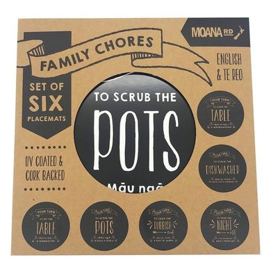 Placemats - Family Chores (set of 6)
