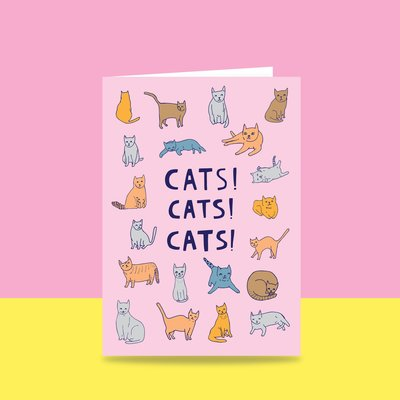 Cats Cats Cats Able and Game Card