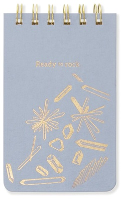 Ready to Rock dusty blue reporter notebook pocket spiral bound