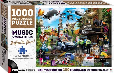 1000 Piece Jigsaw Puzzle Music Puns