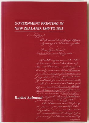 Government Printing in New Zealand, 1840 to 1843