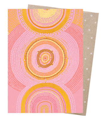 The Great Cosmic Sun Earth Greetings Card