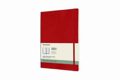 2021 Weekly Notebook Red XLarge Softcover Diary Moleskine