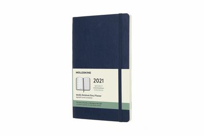 2021 Weekly Notebook Blue Large Softcover Diary Moleskine