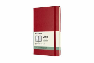 2021 Weekly Notebook Red Large Hardcover Diary Moleskine