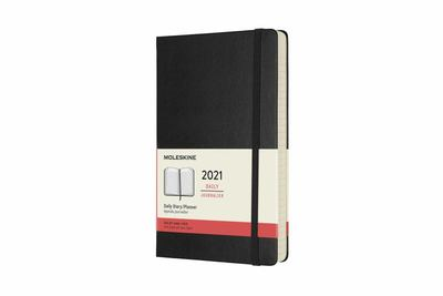 2021 Daily Black Large Hardcover Diary Moleskine