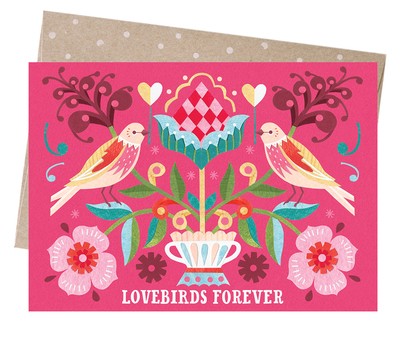 Card - Lovebirds forever