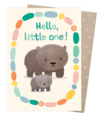 Blank Greeting Card - Welcome Baby Wombat