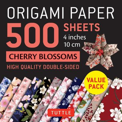 Origami Paper 500 Sheets Cherry Blossoms 4 (10 Cm) - Tuttle Origami Paper: High-Quality Double-Sided Origami Sheets Printed with 12 Different Patterns