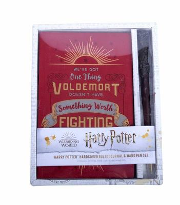 Harry Potter: Harry Potter Hardcover Ruled Journal and Wand Pen Set