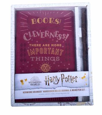 Harry Potter: Hermione Granger Hardcover Ruled Journal and Wand Pen Set
