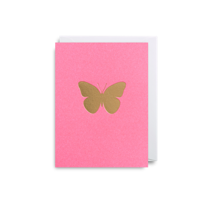 Blank Card Gold Butterfly on Hot Pink (LAG_1536) Mini