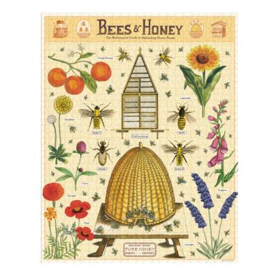 Bees & Honey Vintage: 1000-Piece Jigsaw Puzzle (C-PZL-BEE) Cavallini & Co