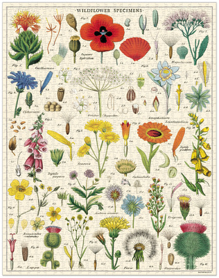 Cavallini & Co Wildflowers 1000-piece Vintage Jigsaw Puzzle
