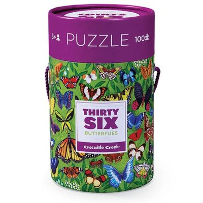 Thirty Six Butterflies Canister Jigsaw Puzzle (100pc)