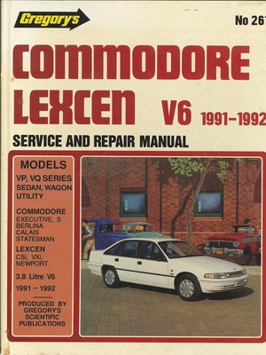 Commodore [and] Statesman (VP, VQ Series) [and] Lexcen (VP Series) - Six Cylinder 1991-1992