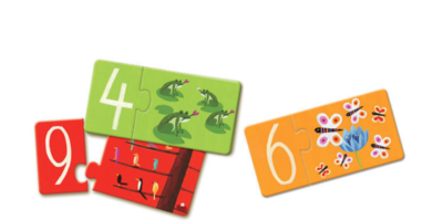 Djeco Duo Puzzle Numbers 20 Pieces