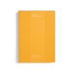 Milligram SPIRAL BOUND NOTEBOOK - RULED - B5 - MANGO