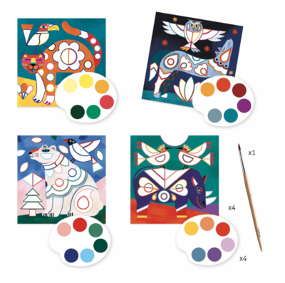 Djeco Fanciful Cards to Paint