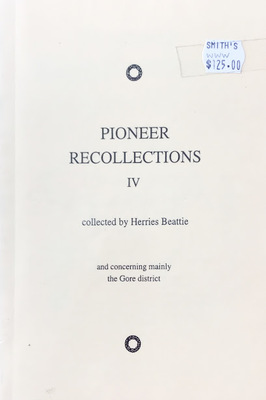 Pioneer Recollections
