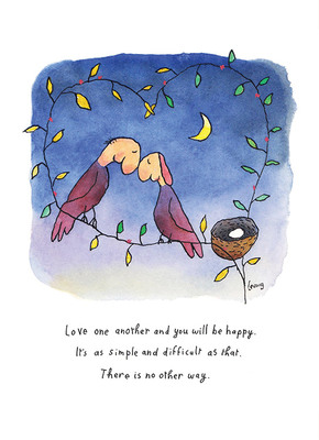 Leunig - Love One Another II (Colour)