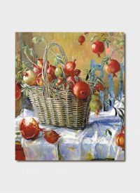 Pomegranates in a Basket  Blank Card