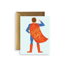 Super Dad Blank Card