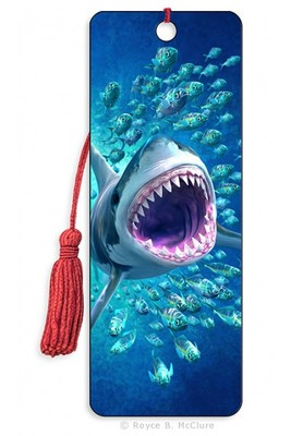 Shark Tunnel 3D Bookmark