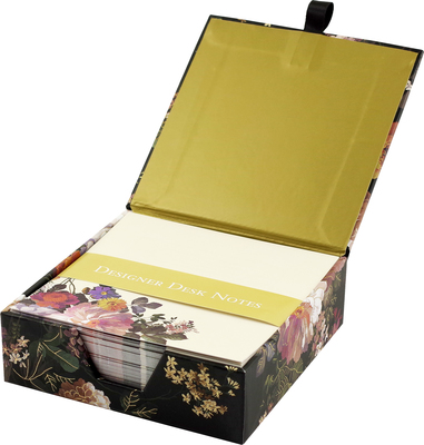 Midnight Floral Desk Notes bx250 (4866)