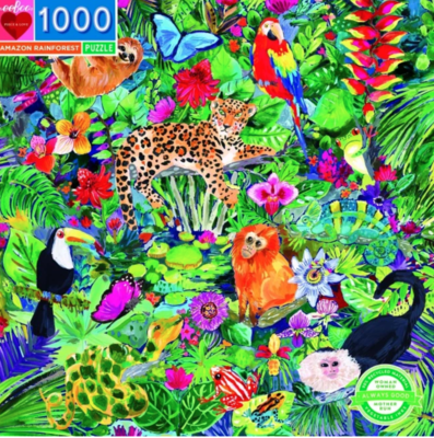 Amazon Rainforest: 1000-piece Jigsaw Puzzle Eeboo (EB-PZTAZR)