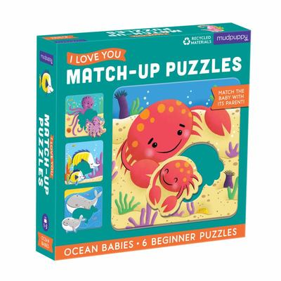 Ocean Babies I Love You Match-Up Puzzles