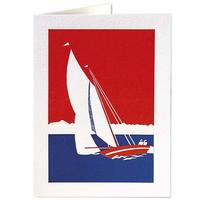 Homepage red white blue yacht