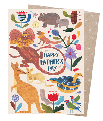 Happy Fathers Day menagerie card