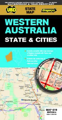 Western Australia State and Cities Map 619 8th Ed (waterproof)