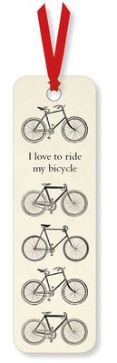 I Love To Ride My Bicycle Bookmark (M&G_GBM272)