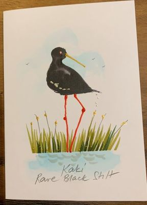 Card - Kaki Rare Black Stilt