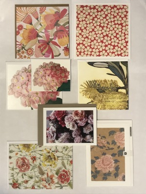 5 Assorted Flower Cards
