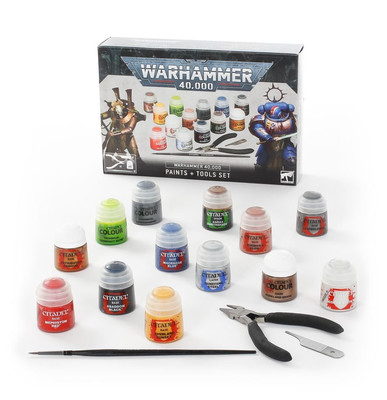 60-12 Warhammer 40,000: Paints + Tools Set