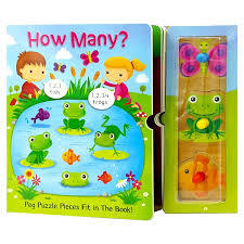 How Many? Peg Puzzle Book