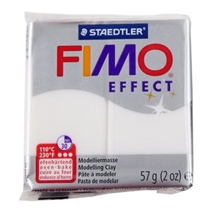 Fimo Soft Modelling Clay 57g Translucent White