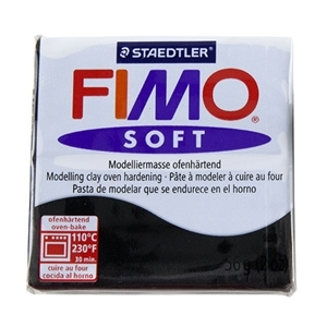 Fimo Soft Modelling Clay 57g Black
