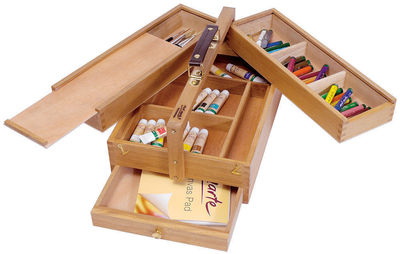Multi-Purpose Art Box Wood MEA0009